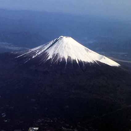 JAL107便から撮った富士山