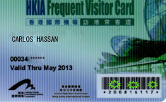 Hong Kong International Airport Frequent Visitor Card