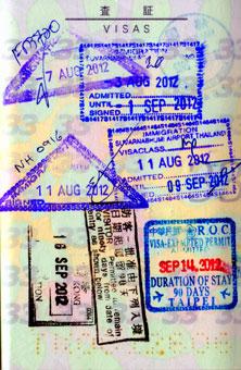 entry stamp on my passport