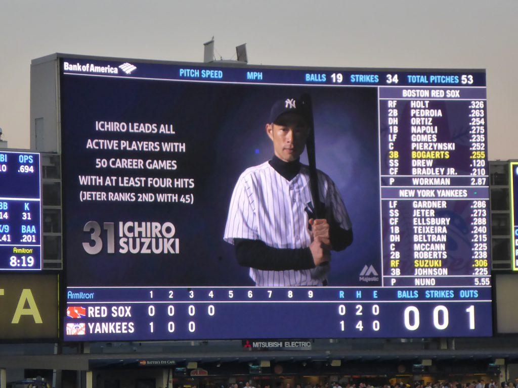 2014年6月27日 ヤンキース対レッドソックスでのイチロー選手