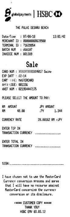 Credit Card Customer Copy