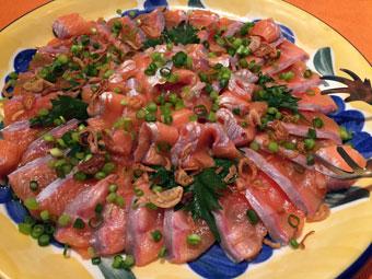美味い魚と希少な泡とワインで極上ディナー