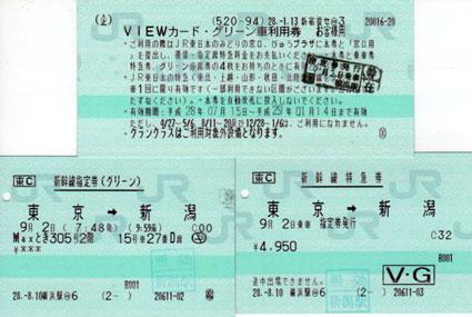 VIEWカード グリーン車利用券(新幹線・特急列車用)