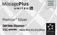 United Airlines Mileage Plus Premier Silver