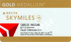 Delta Skymiles Gold Medallion Card