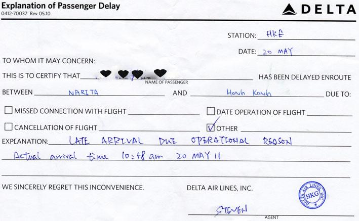 Explanation of Passenger Delay