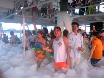 Bubble Party on Happy Boat, Cambodia
