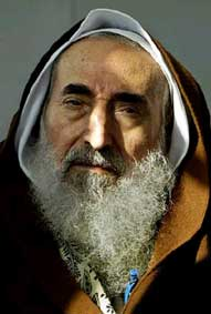 Hamas founder and spiritual leader Sheikh Ahmed Yassin