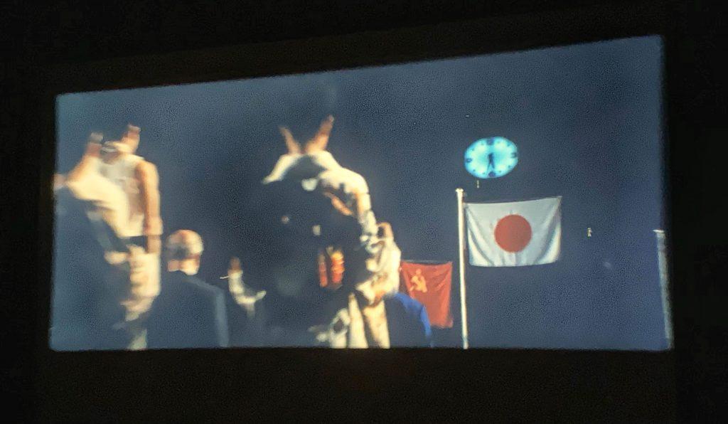 映画「東京オリンピック」-遠藤幸雄の金メダル授与式