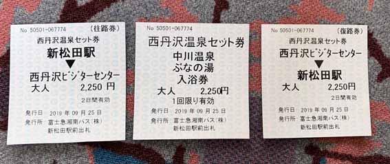 富士急湘南バス 西丹沢温泉セット券