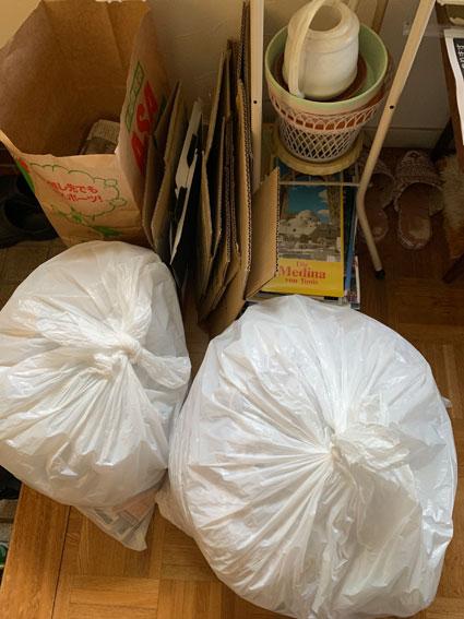 シュレッダー使用後のゴミ