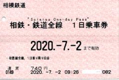 相鉄・鉄道全線1日乗車券
