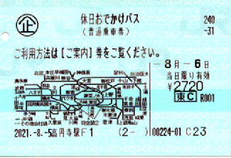JR東日本 休日おでかけパス