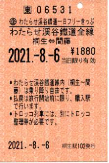 わたらせ渓谷鉄道1日フリーきっぷ