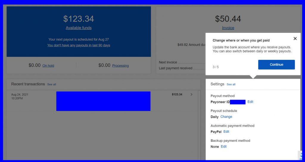 eBayのPayment(支払い)画面