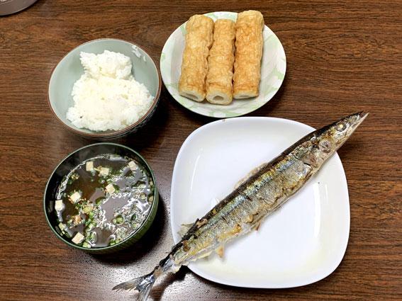 自宅の夕食